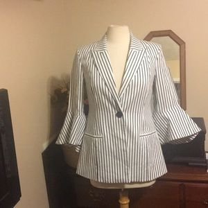 Cabi 5295 Striped Jacket With Bell Sleeves